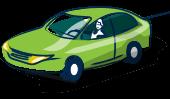 Aric Assurances voiture verte.